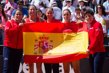Anabel Medina Sara Sorribes Spain v Italy: Fed Cup World Group Play-off Round - Day Two