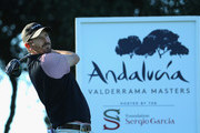 Thomas Aiken of South Africa plays in the pro am ahead of the Andalucia Valderrama Masters at Real Club Valderrama on October 17, 2018 in Cadiz, Spain.