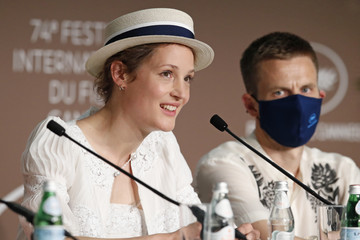 """Anders Danielsen Lie Vicky Krieps """"Bergman Island"""" Press Conference - The 74th Annual Cannes Film Festival"""