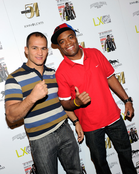 Anderson Silva and Junior Dos Santos - Official Silver Star Casting Co. And UFC Magazine Pre-Party At Studio 54