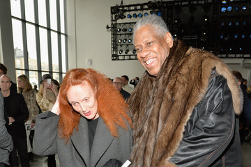 Andre Leon Talley Front Row at the Calvin Klein Collection Show