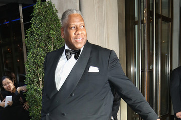 Andre Leon Talley Guests Leave the Met Gala in NYC 2