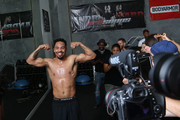 Andre Ward poses during an open media workout on June 2, 2017 in Hayward, California. Ward held a public workout in preparation for his upcoming rematch with Sergey Kovalev, whom he'll meet for a rematch on Saturday, June 17 in Las Vegas, Nevada at the Mandalay Bay Events Center.