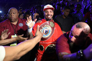 Andre Ward celebrates after his light heavyweight championship bout against Sergey Kovalev at the Mandalay Bay Events Center on June 17, 2017 in Las Vegas, Nevada. Ward retained his WBA/IBF/WBO titles with a TKO in the eighth round.