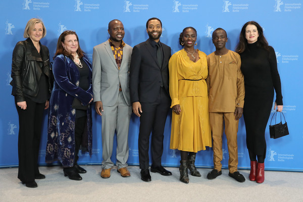 'The Boy Who Harnessed The Wind' Photocall - 69th Berlinale International Film Festival [the boy who harnessed the wind,social group,team,event,management,business,tourism,gail egan,chiwetel ejiofor,maxwell simba,aissa maiga,william kamkwamba,alexa fogel,andrea calderwood,photocall,photocall - 69th berlinale international film festival]