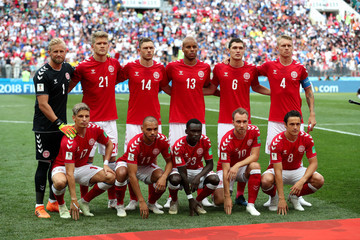 Andreas Cornelius Martin Braithwaite Denmark Vs. France: Group C - 2018 FIFA World Cup Russia