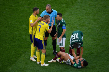 Andres Guardado Hirving Lozano Mexico Vs. Sweden: Group F - 2018 FIFA World Cup Russia