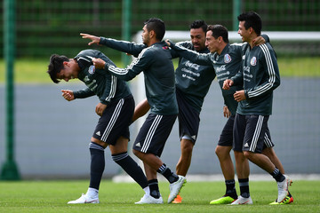 Andres Guardado Hirving Lozano Mexico Training Session
