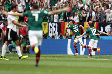 Andres Guardado Hirving Lozano Germany vs. Mexico: Group F - 2018 FIFA World Cup Russia