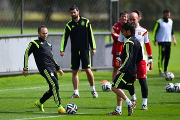Andres Iniesta Spain Training & Press Conference - 2014 FIFA World Cup Brazil