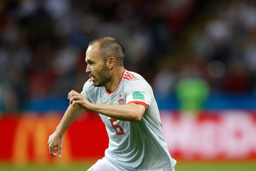 Andres Iniesta Iran Vs. Spain: Group B - 2018 FIFA World Cup Russia