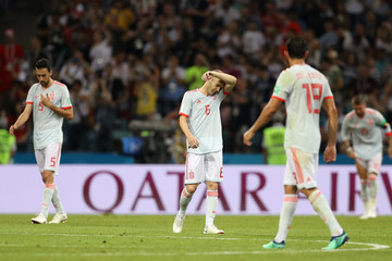 Andres Iniesta Sergio Busquets Portugal Vs. Spain: Group B - 2018 FIFA World Cup Russia