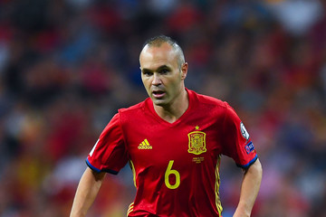 Andres Iniesta Spain v Italy - FIFA 2018 World Cup Qualifier
