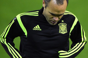 Andres Iniesta Spain Training Session