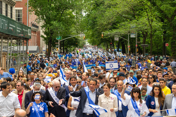 Andrew Cuomo Israeli Day Parade Held On New York's 5th Avenue
