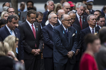 Andrew Cuomo Chris Christie New York Holds Commemoration Ceremony on Anniversary of 9/11 Attacks