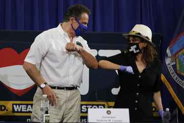 Andrew Cuomo New York Governor Andrew Cuomo Holds His Daily Coronavirus In Brooklyn