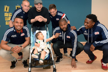 Andrew Farrell Kelyn Rowe New England Revolution Players Spread Cheer to Patients at Boston Children's Hospital
