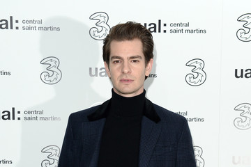 Andrew Garfield Three 5G After Party for Central Saint Martins MA Show - LFW February 2019