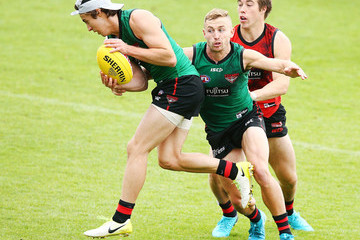 Andrew MGrath Essendon Bombers Training Session