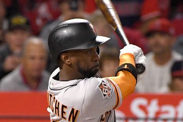 Andrew McCutchen San Franciso Giants  v Los Angeles Angels of Anaheim