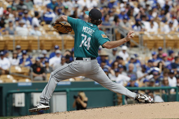 Andrew Moore Seattle Mariners v Los Angeles Dodgers