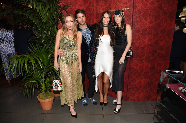 Dolce & Gabbana Pyjama Party at 5th Avenue Boutique [fashion,event,fun,dress,fashion design,party,fawn,kyra kennedy,reya benitez,gaia matisse,dolce gabbana pyjama party,l-r,5th avenue boutique,new york city,pyjama party,dolce gabbana]