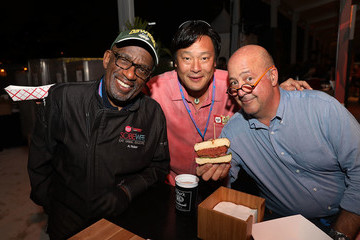 Andrew Zimmern The Beyond Burger From Beyond Meat Is Served At The South Beach Wine & Food Festival Burger Bash At Al Roker's Booth