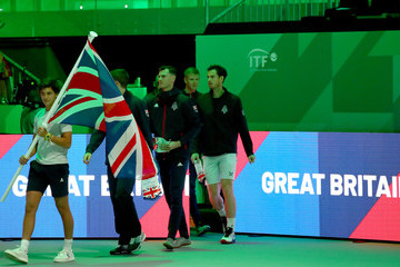 Andy Murray Daniel Evans Great Britain Compete For 2019 Davis Cup