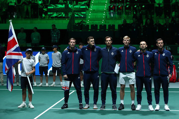 Andy Murray Leon Smith Great Britain Compete For 2019 Davis Cup