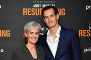 """Judy Murray and Andy Murray attend the """"Andy Murray: Resurfacing"""" world premiere at the Curzon Bloomsbury on November 25, 2019 in London, England."""