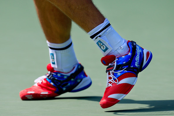 2012 US Open - Day 2 [footwear,shoe,cleat,ankle,joint,human leg,athletic shoe,sports equipment,leg,knee,shoes,andy roddick,men,rhyne williams,united states,neighborhood,2012 us open,u.s. open,match,day two]