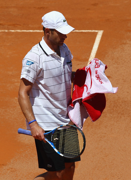 Andy Roddick Andy Roddick of the USA shows his dejection as he loses in straight sets during his first round match against Gilles Simon of France during day two of the Internazoinali BNL D'Italia at the Foro Italico Tennis Centre on May 9, 2011 in Rome, Italy.