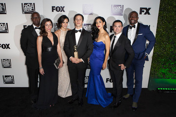 Andy Samberg Melissa Fumero Arrivals at Fox and FX's Golden Globes Afterparty