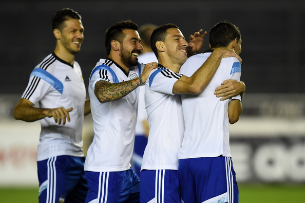 Argentina Training and Press Conference: 2014 FIFA World Cup Brazil Final