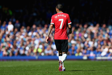 Angel Di Maria Everton v Manchester United - Premier League