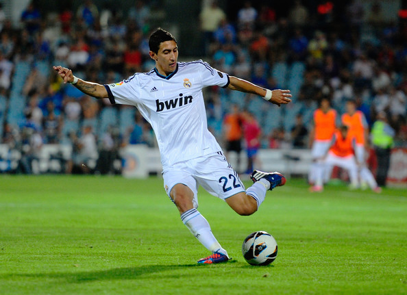 Real Madrid Vs Getafe 2012: Angel Di Maria Photos Photos