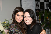 "Sara Sampaio & designer Lisa Chavy introduce ""LIVY"" at Landmarc, West Broadway on February 12, 2019 in New York City."