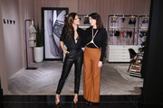 "Sara Sampaio (L) and .designer Lisa Chavy attend as they introduce ""LIVY"" at Victoria's Secret, Fifth Ave on February 12, 2019 in New York City."