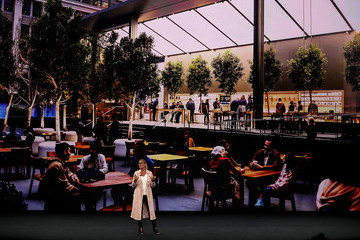 Angela Ahrendts Apple Holds Product Launch Event At New Campus In Cupertino