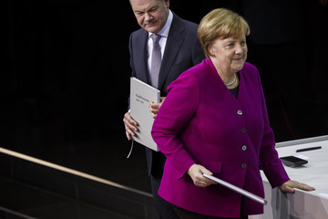Angela Merkel CDU, SPD and CSU Sign Coalition Contract To Form The Next German Government