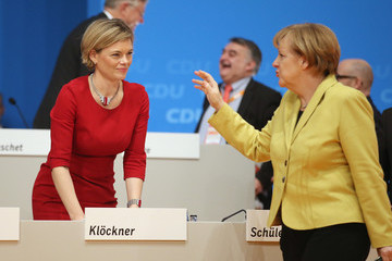 Angela Merkel German Christian Democrats Hold Annual Party Congress