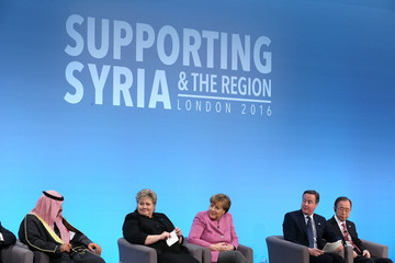 Angela Merkel David Cameron Supporting Syria and the Region London 2016 Conference
