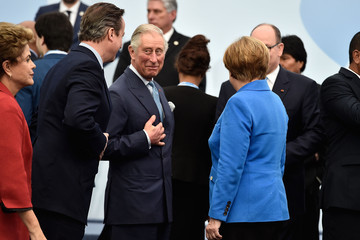Angela Merkel David Cameron 21st Session of Conference on Climate Change COP21 Opens at Le Bourget