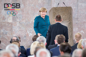 Angela Merkel 10 Years Of DOSB - Ceremonial Act