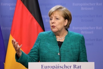 Angela Merkel European Council Leaders Meet in Brussels