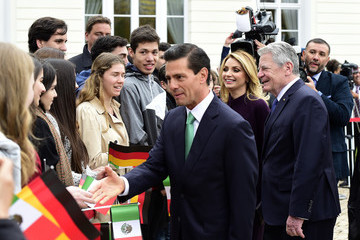 Angelica Rivera Mexican President Enrique Pena Nieto on Visit to Germany