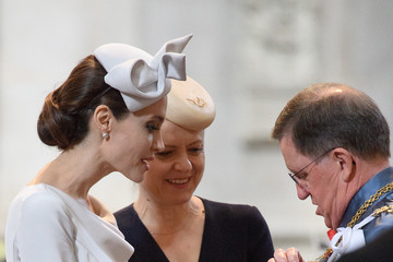 Angelina Jolie HM Queen Attends A Service Marking The Most Distinguished Order Of St George