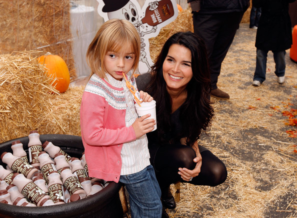 Actress and mom, Angie Harmon (with daughter) unveils her new Milk Mustache