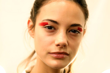 Anja Leuenberger Desigual - Backstage - February 2017 - New York Fashion Week: The Shows
